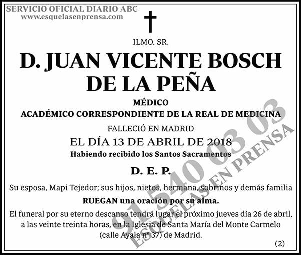 Juan Vicente Bosch de la Peña